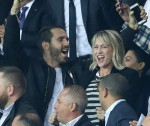 Celebrities attend the Champions League match in Paris