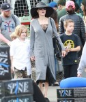 Angelina Jolie and her kids enjoy a day at the Rose Bowl Flea Market