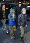 Angelina Jolie and family escorted into an event in New York City
