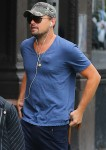 Leonardo DiCaprio wears an unidentified object underneath his shirt!