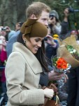 The British Royal family arrive at Sandringham to celebrate Christmas Day