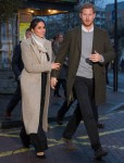 Meghan Markle and Prince Harry during a visit to youth-orientated radio station, Reprezent FM, in Brixton, south London to learn about its work supporting young people