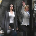 Angelina Jolie meets the first lady Brigitte Macron in Paris