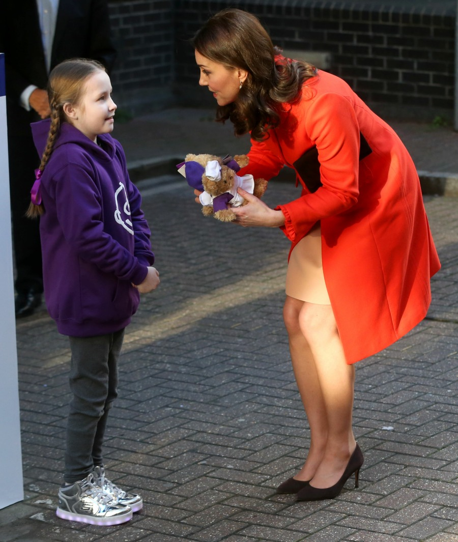 Catherine, Duchess of Cambridge visits Great Ormond's Street Hospital