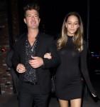 Robin Thicke and pregnant April Love Geary exit Leonardo DiCaprio's Birthday