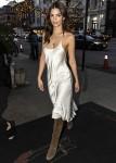 Sexy Emily Ratajkowski wears a silk slip dress in NYC