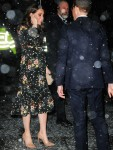 Catherine, Duchess of Cambridge braves the snowy weather at The National Portrait Gallery