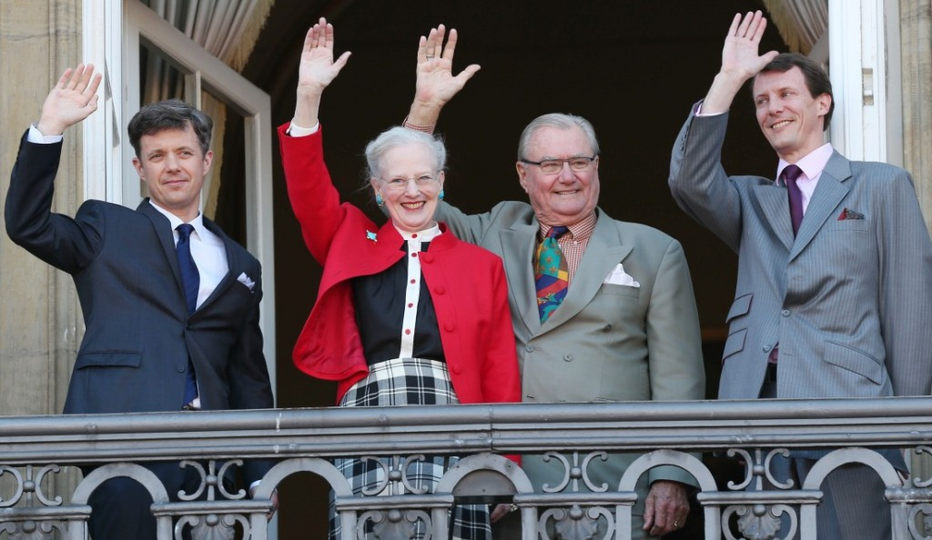 Danish royal family celebrates the 73rd birthday of Queen Margrethe