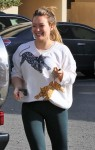 Hilary Duff out shopping with her son Luca Comrie
