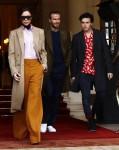 The Beckhams leaving the Ritz Paris