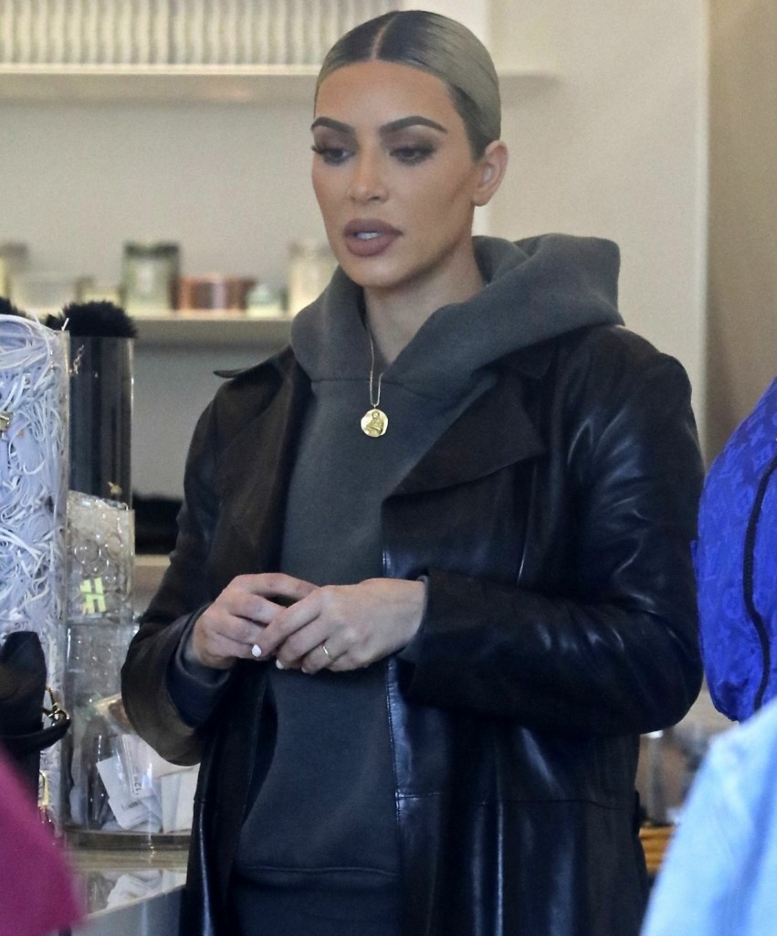 Kim Kardashian spotted at her Dash store in West Hollywood