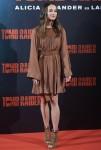 Alicia Vikander attends 'Tomb Raider' photocall
