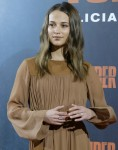 Alicia Vikander attends 'Tomb Raider' photocall
