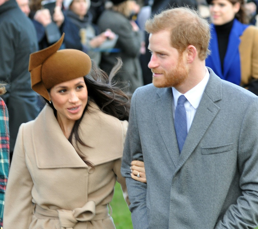 Catherine, Duchess of Cambridge, Meghan Markle and Prince Harry at Sandringham Church for the royal family's traditional Christmas Day service