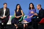 Meghan Markle and Catherine, Duchess of Cambridge attend the first annual Royal Foundation Forum held at Aviva in London