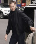 Tom Brady arrives at The Late Show With Stephen Colbert