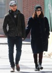 James McAvoy and Lisa Liberati hold hands while out for a stroll