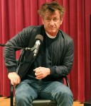 Sean Penn gives a talk at Philadelphia Free Library