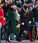 The Duke and Duchess of Cambridge present shamrocks to the 1st Battalion Irish Guards