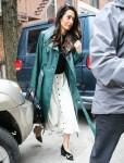 Amal Clooney looks amazing on her way to Columbia University