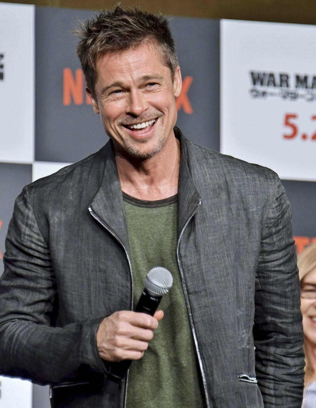 "Brad Pitt attends ""War Machine"" Press Conference in Tokyo"