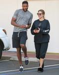 Khloe Kardashian y Tristan Thompson visitar un centro de láser
