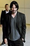 Keanu Reeves arrives at Narita International Airport
