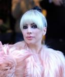 Lady Gaga leaving her hotel in Milan