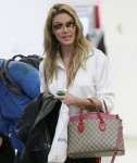 Brandi Glanville arrives at Los Angeles International (LAX) Airport