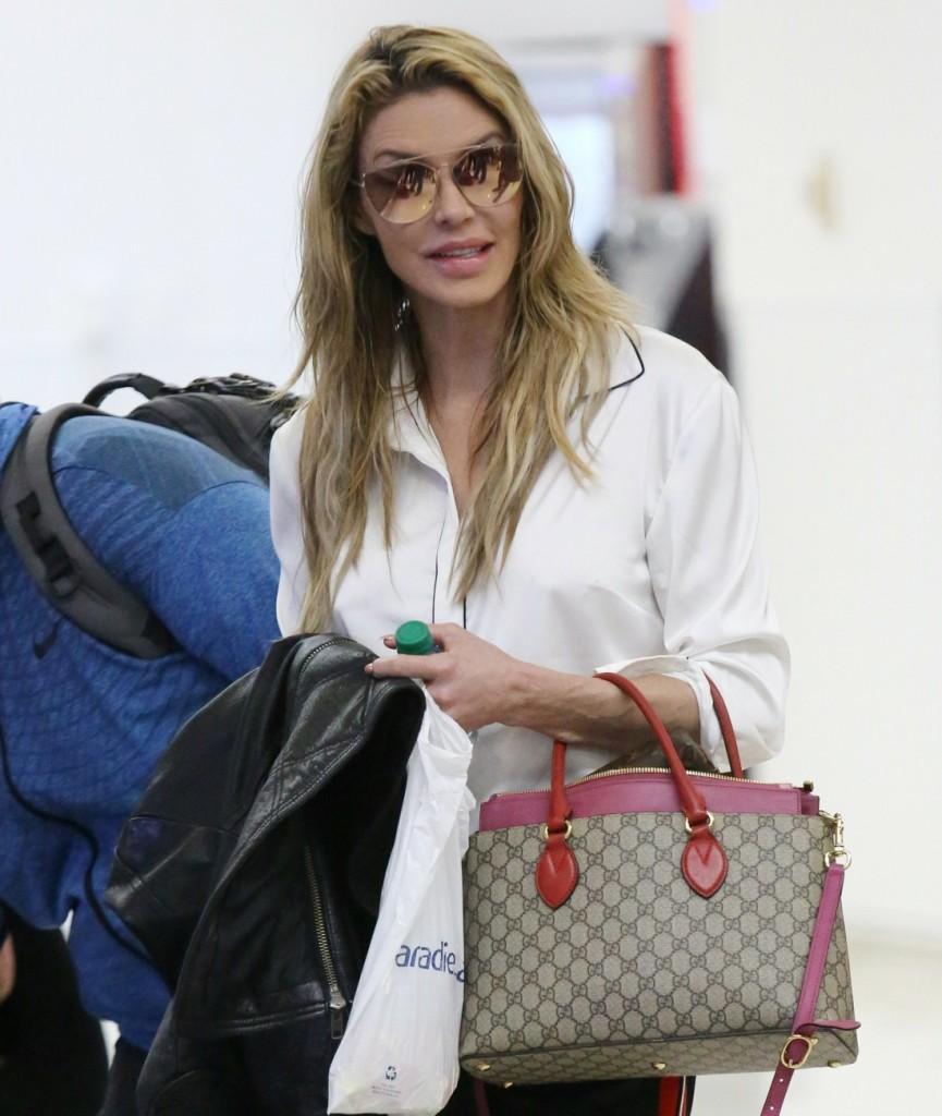 Brandi Glanville arrives at Los Angeles International (LAX) Airport