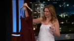 Jenna Fischer during an appearance on ABC's Jimmy Kimmel Live!'