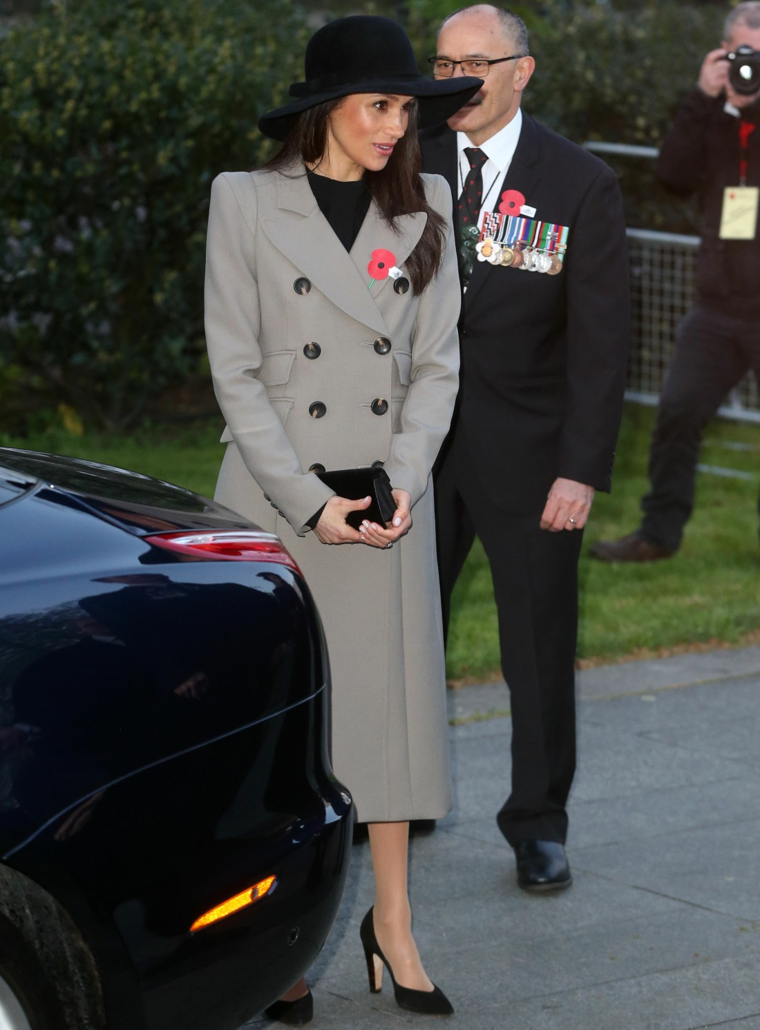 Prince Harry and Meghan Markle attend the Anzac Day official remembrance service