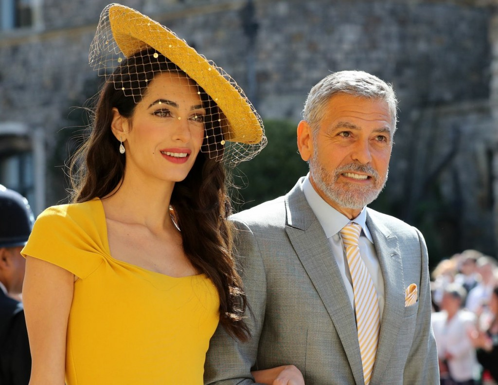 Amal Clooney, George Clooney arrive for the royal wedding between Meghan Markle and Prince Harry at Windsor Castle