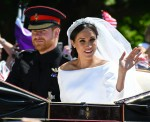 The Duke and Duchess of Sussex on the 'Long Walk'