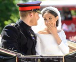 Prince Harry and Meghan Markle leave Windsor Castle as a married couple