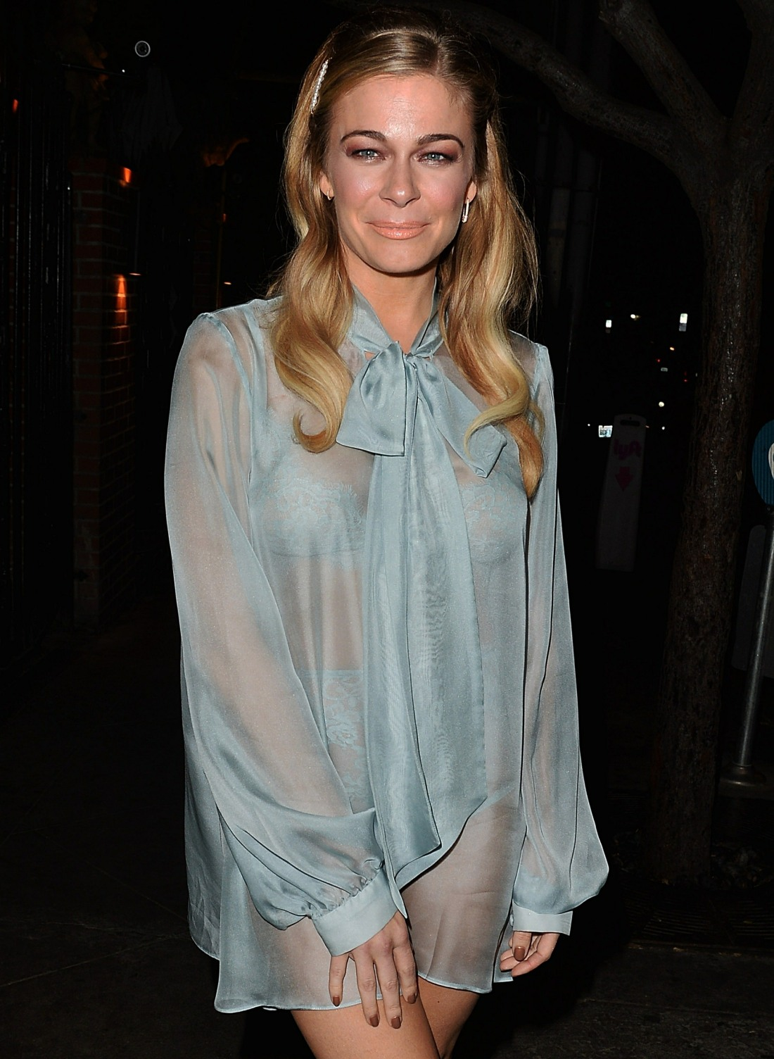 Dare to Bare! Leann Rimes sports a Completely See Through mesh outfit at The Abby