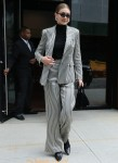Gigi Hadid shows off her business chic ensemble in New York City