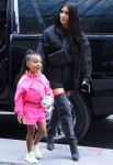 Kim Kardashian and North West enjoy at day out together