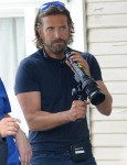 Lady Gaga and Bradley Cooper on the set of 'A Star Is Born'