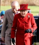 Royals attend Church in West Newton