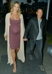 Stacy Keibler Looking Very Pregnant While Out On A Dinner Date.