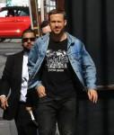 Ryan Gosling arrives at the 'Jimmy Kimmel Live!' studio