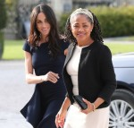 Meghan Markle arriving at Cliveden House Hotel on the National Trust's Cliveden Estate to spend the night before her wedding to Prince Harry
