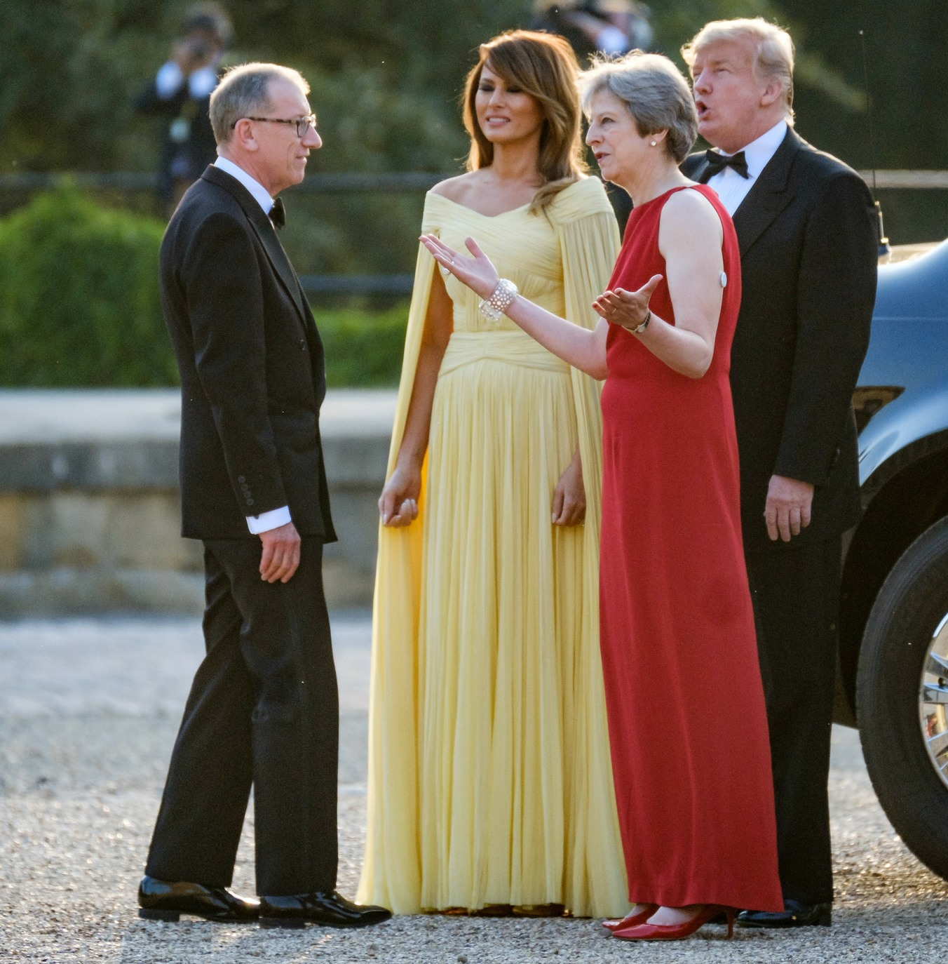 President of the United States Donald Trump visits the United Kingdom