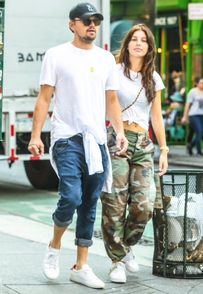 Leonardo DiCaprio hangs out with girlfriend Camila Morrone in the West Village