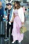 Nick Jonas and Priyanka Chopra arrive at JFK airport in NYC together **NO NY DAILY NEWSPAPERS**
