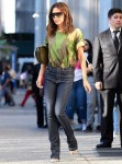 Victoria Beckham keeps it casual in camo after attending a Forbes event