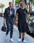 Lovebirds Justin Bieber and Hailey Baldwin hold hands after dinner at Nobu
