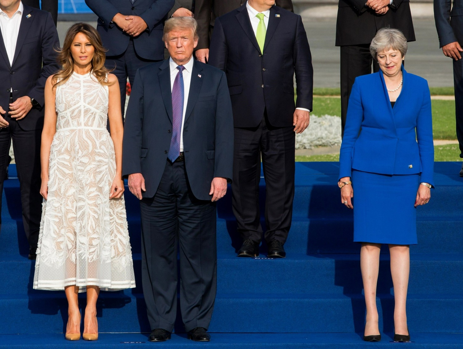 Arrivals at the dinner of the NATO summit in Brussels
