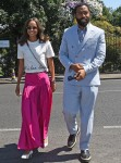Stars attend the men's singles final on the final day of Wimbledon